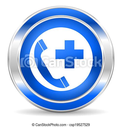emergency call icon - csp19527529
