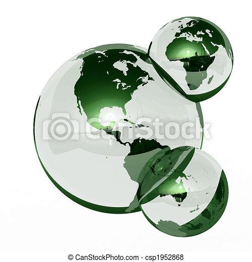Earth Water molecule - csp1952868
