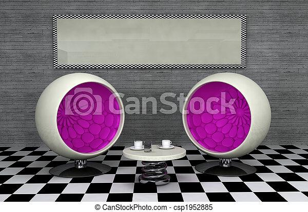 Retro diner - csp1952885
