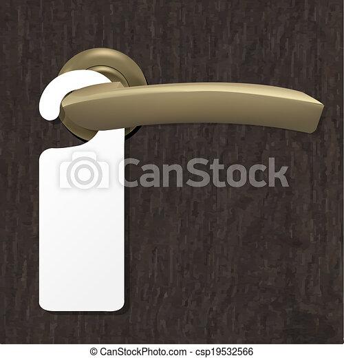 stock illustration von machen not st ren zeichen mit kupfer t r stiel csp19532566. Black Bedroom Furniture Sets. Home Design Ideas