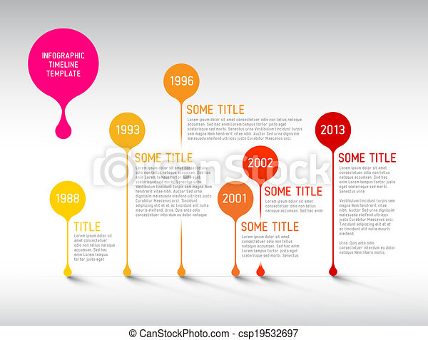 Infographic Templates free timeline infographic templates : EPS Vectors of Infographic timeline report template with bubbles ...