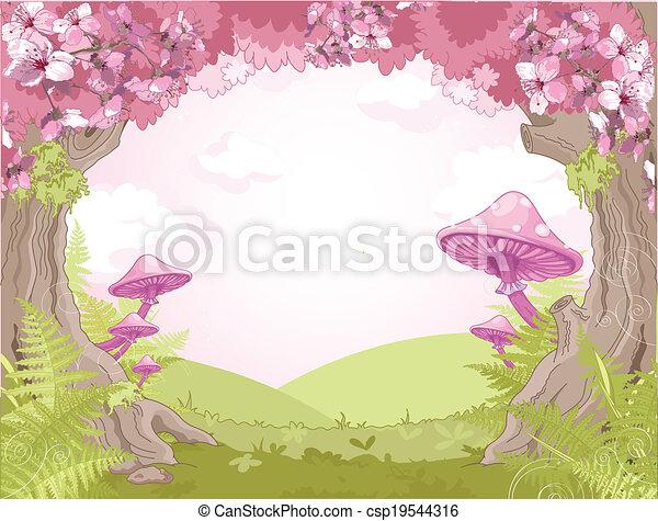 Fantasy landscape - csp19544316