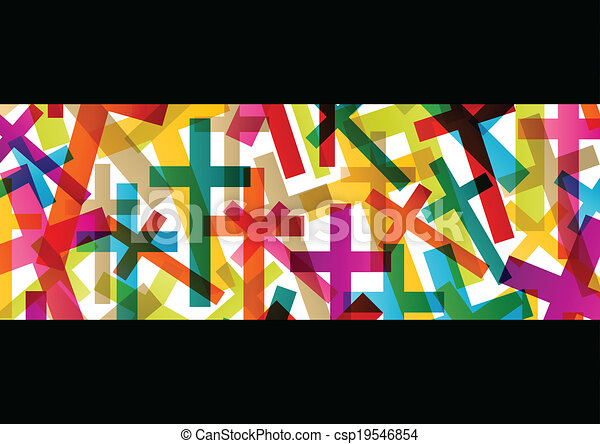 Christianity religion cross concept abstract background vector - csp19546854