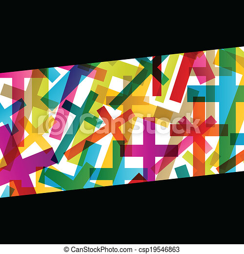 Christianity religion cross concept abstract background vector - csp19546863