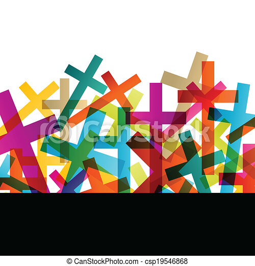 Christianity religion cross concept abstract background vector - csp19546868