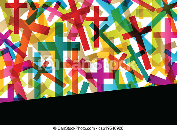 Christianity religion cross concept abstract background vector - csp19546928