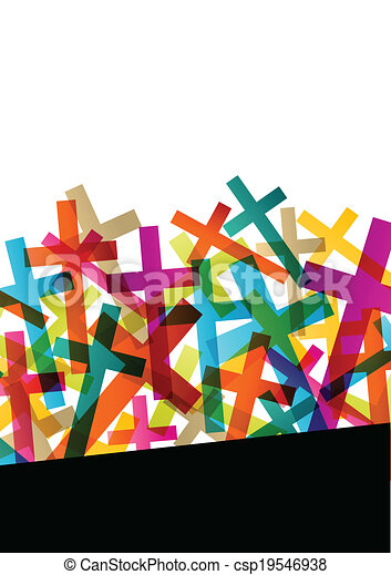 Christianity religion cross concept abstract background vector - csp19546938