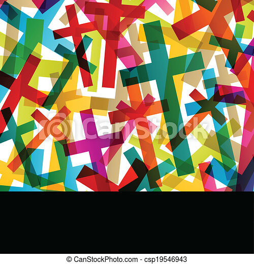Christianity religion cross concept abstract background vector - csp19546943