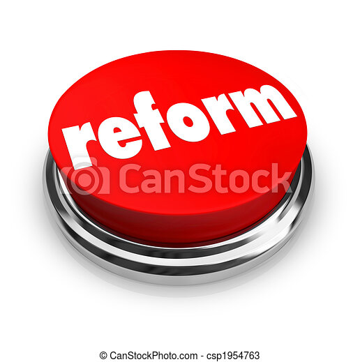 Reform - Red Button - csp1954763