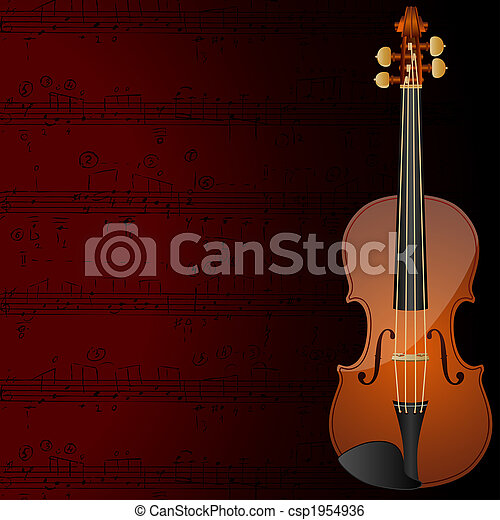 Violin background - csp1954936