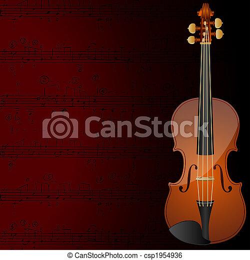 Violin background - csp1954936