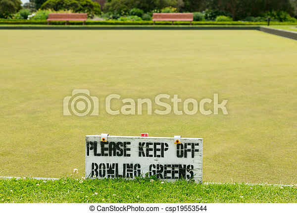 Bowling green in Rotorua in Government Park NZ - csp19553544