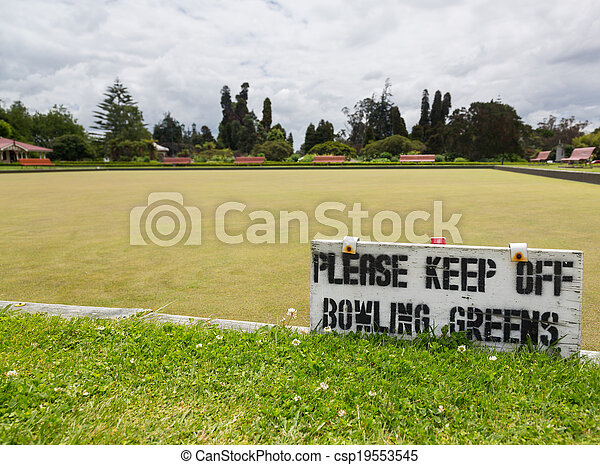 Bowling green in Rotorua in Government Park NZ - csp19553545