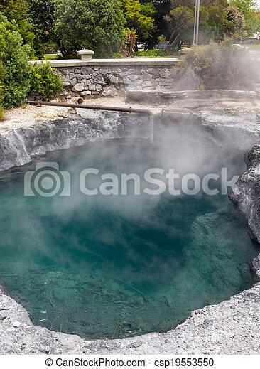 Rotorua hot spring Government Park NZ - csp19553550
