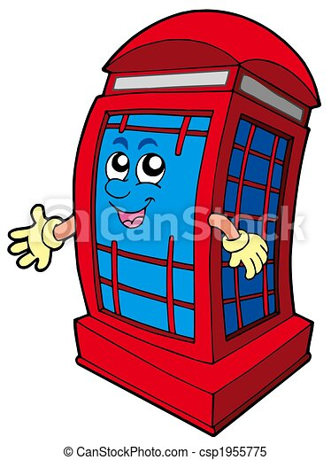 English red phone booth - csp1955775