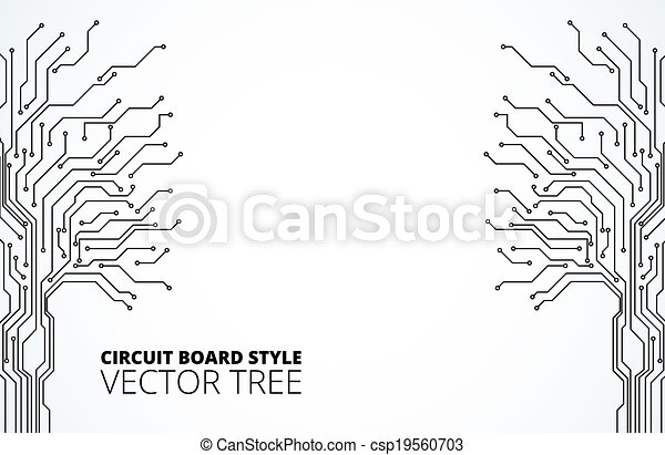 vector clipart of circuit board background texture