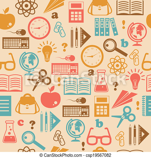 Vector of Education seamless wallpaper - Education knowledge ...