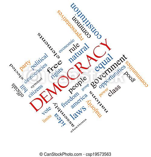 angular, concepto, palabra, democracia, nube - csp19573563