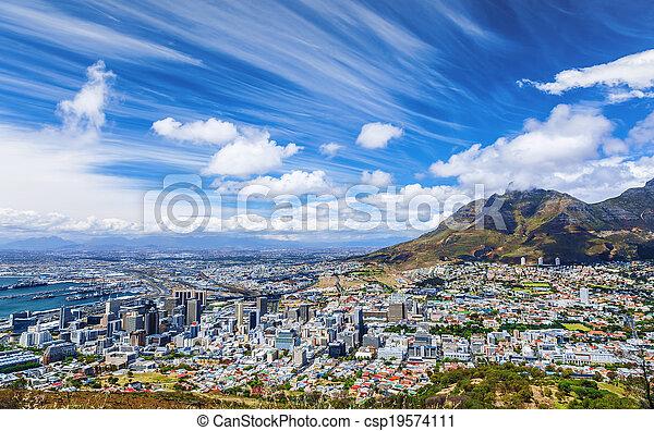 Cape Town city view - csp19574111