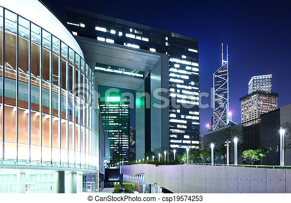 Government headquarter in Hong Kong - csp19574253