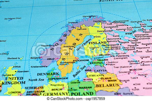 Europe Map Scandinavian Peninsula Scandinavian Peninsula Map