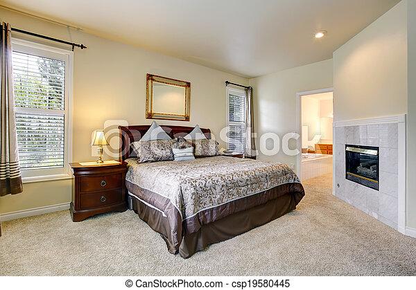 스톡 사진 - 우아한, 침실, 아름다운, 침구 - 스톡 이미지, 이미지 ...