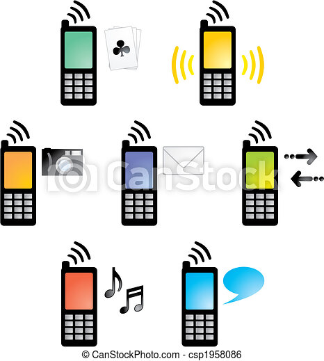 Cellphone01_4_icons2 - csp1958086