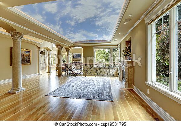 Luxury House Interior. Empty Living Room   Csp19581795