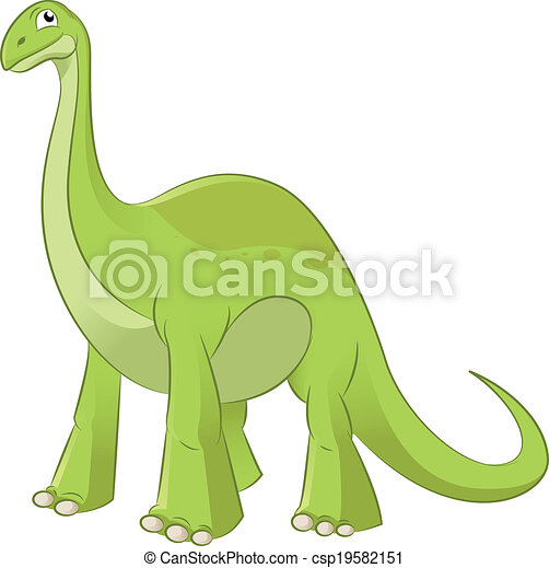 Vecteur clipart de diplodocus vector image de une - Dessin diplodocus ...