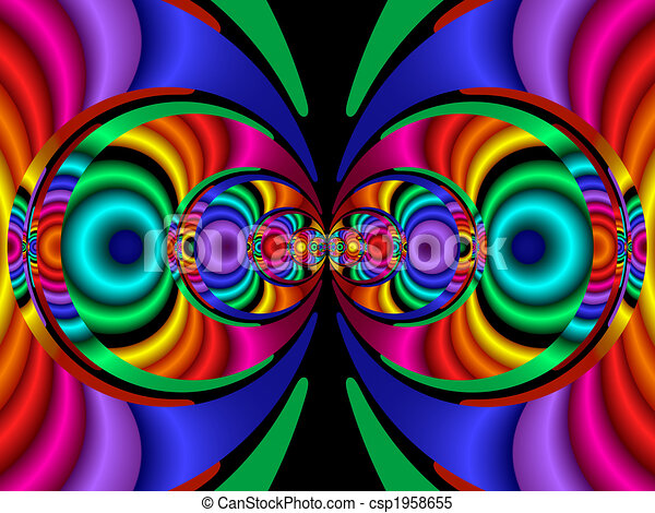 Stereo Colors, fractal40a - csp1958655
