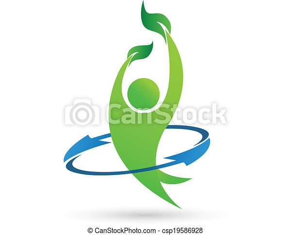 Health nature vector logo - csp19586928