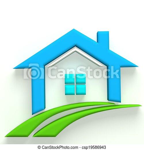 Dessin de vrai logo 3d propri t maison vrai for Maison en 3d dessin