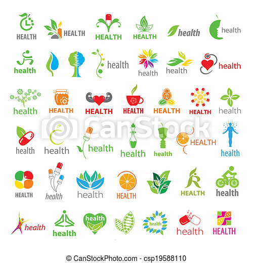 biggest collection of vector logos health - csp19588110