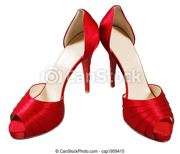 red female shoes - csp1959415