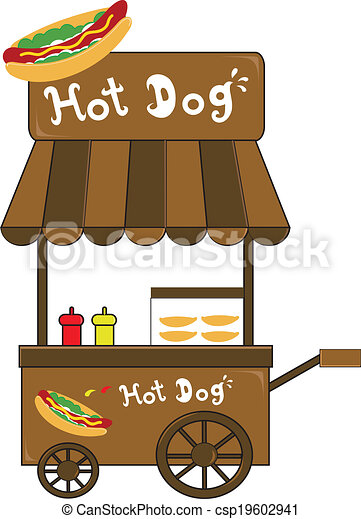 How To Draw A Hot Dog Cart