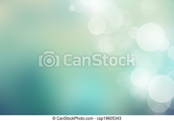 Soft green background with beautiful bokeh lights - csp19605343