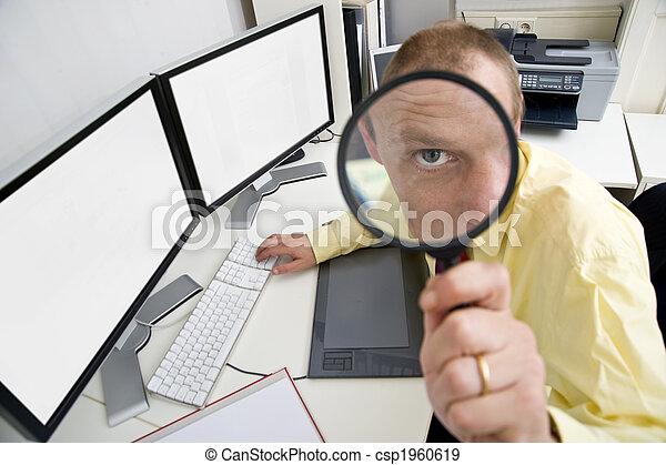 Watchful businessman - csp1960619