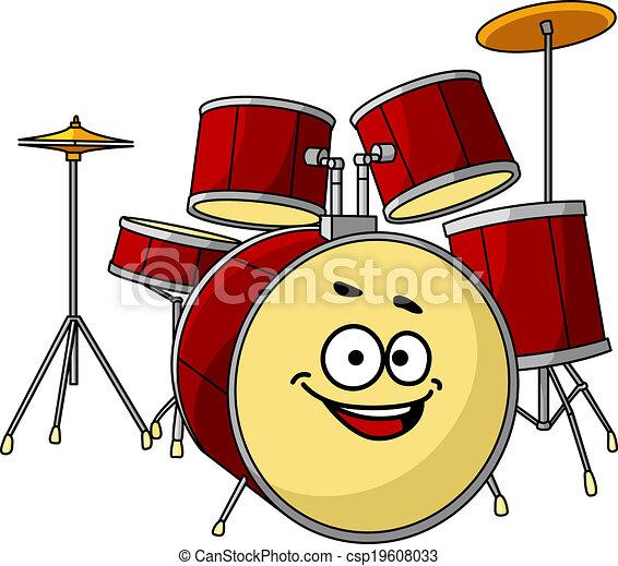 Drum Set Clipart Drum Set Having a Big Happy