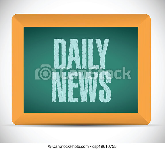 Clipart vector of daily news message illustration design for Daily design news