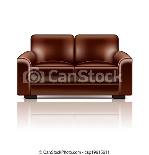 brown leather sofa isolated - photo #38