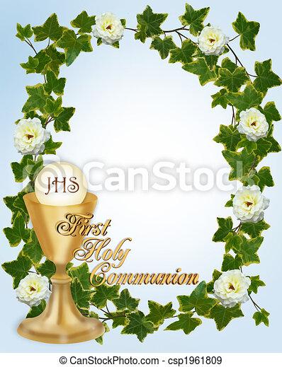 First Communion Invitation - csp1961809
