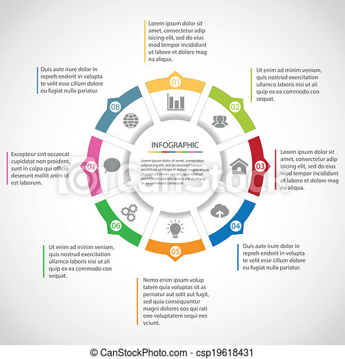Vectors of Circle infographic template - Circle simple infographic ...