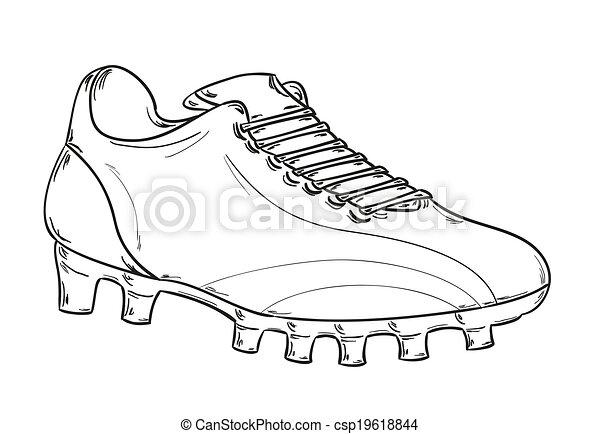 Botas de futbol colouring pages - Vetor Futebol Botas Esbo 231 O Estoque De Ilustra 231 227 O