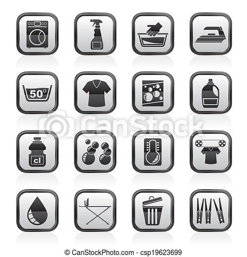 Vecteurs eps de lavage machine lessive ic nes vecteur ic ne csp19623699 recherchez - Logo lessive machine a laver ...