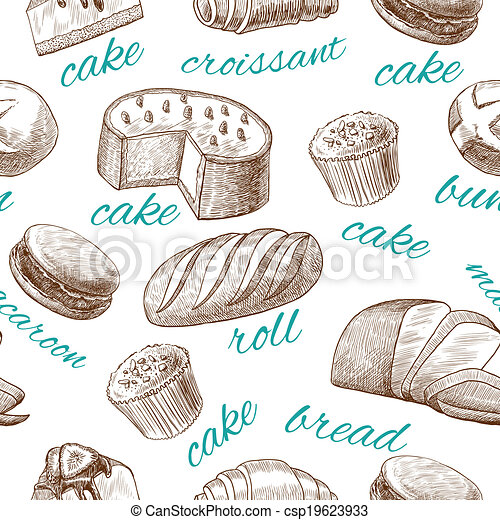 Bread Rolls Drawing Cake Croissant Bread Roll
