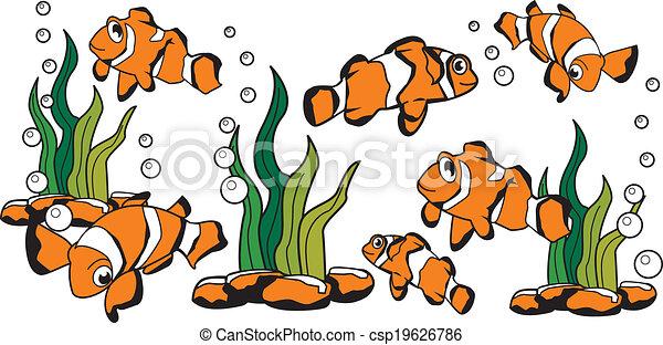 Nemo Fish Drawings Vector Nemo Clown Fish