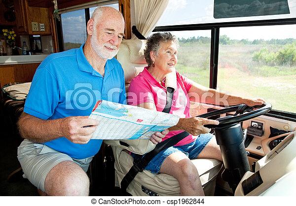 RV Seniors - Husband Navigates - csp1962844