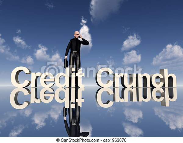 Businessman And Credit Crunch - csp1963076