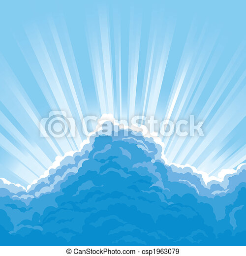 Sun Behind Clouds - csp1963079