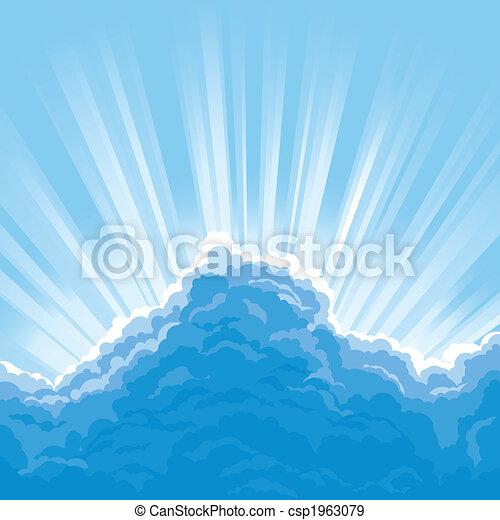 Sun Behind Clouds - csp1963079
